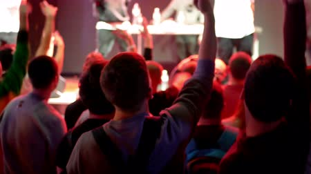 bleachers : Crowd concert music life Stock Footage