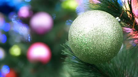 caligrafia : Christmas tree balls lights