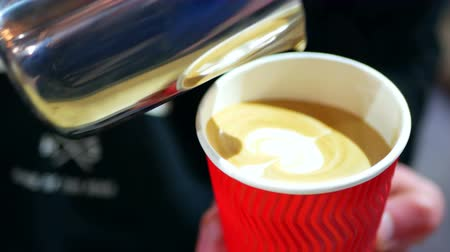 backround : Closeup espresso coffee
