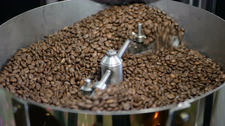 roaster : Coffee beans factory mixing