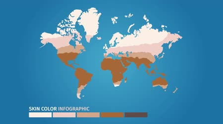 skin world map color infographic . skin vector graphic animation