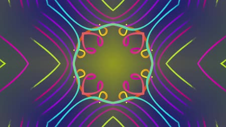 demirli : Abstract colorful lines pattern. Motion background. Seamless Loop. Kaleidoscope.