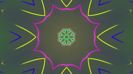 demirli : Abstract colored wavy lines pattern. Motion background. Seamless Loop. Kaleidoscope. Stok Video