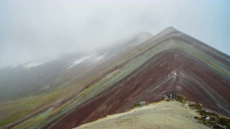 Winicunca Rainbow Mountain Стоковые видеозаписи
