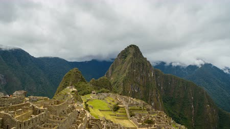 Time lapse from Machu Picchu, lost city of the Incas in Peru