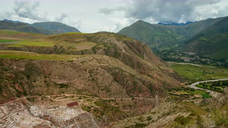 geotermální : Panoramic View on Maras Salt Mines