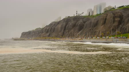 Pacific Ocean Coast in Lima