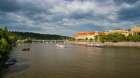 Panoramic View on Vltava River in Prague
