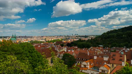 Sunny View from Prague Castle Стоковые видеозаписи