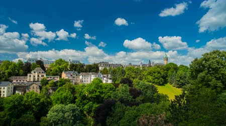 Luxembourg City Panoramic View Стоковые видеозаписи