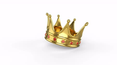 Royal crown fallen on a white background. There is an alpha channel.