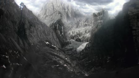 hátborzongató : Matte Painting Mountains