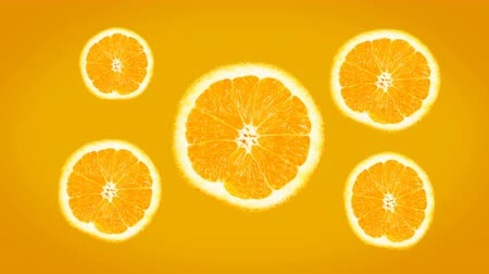 Bright Fresh Juicy Orange Background. 4k