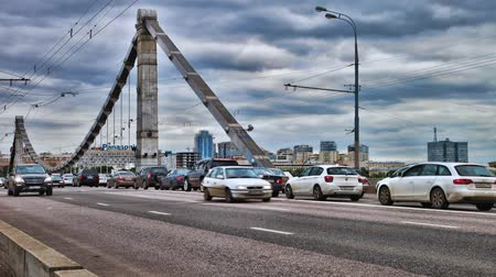 main : Bridge road timelapse HDR Stock Footage