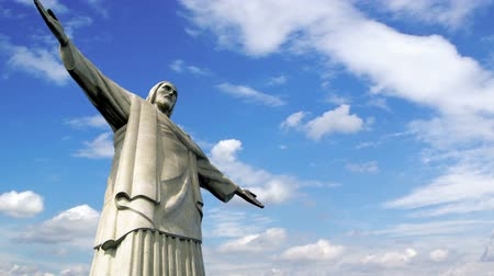 religia : Timelapse of the Christ the Redeemer in Rio de Janeiro, Brazil