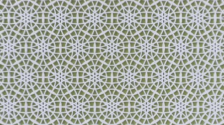 ottomaans : Arabesque looping geometric pattern. Olive and white islamic 3d motif. Arabic oriental animated background. Muslim moving wallpaper. Asian ornament with circles. Ethnic design element decoration. Stockvideo