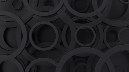 concêntrico : Abstract geometric pattern with circles. Loopable moving background. 3d modern wallpaper with animated rings. Looping motion graphic with circular shapes.