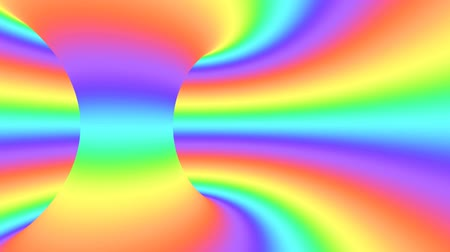 urdidura : Spectrum psychedelic optical illusion. Abstract rainbow hypnotic animated background. Bright looping colorful wallpaper. Surreal multicolor dynamic backdrop. 3D seamless full HD animation Stock Footage