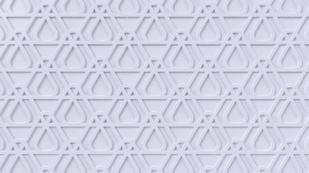 motif : Arabesque looping geometric pattern. White islamic 3d motif. Arabic oriental animated background. Muslim moving wallpaper. Asian ornament with triangles. Ethnic design element decoration. Stock Footage
