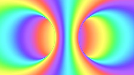 whirlpool : Spectrum psychedelic optical illusion. Abstract rainbow hypnotic animated background. Bright looping colorful wallpaper. Surreal multicolor dynamic backdrop. 3D seamless full HD animation Stock Footage