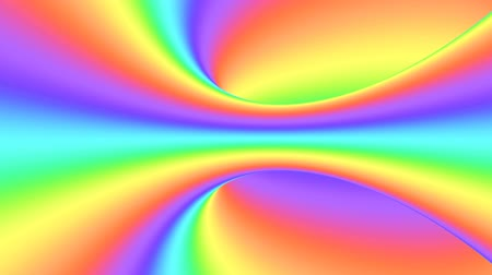 imposible : Spectrum psychedelic optical illusion. Abstract rainbow hypnotic animated background. Bright looping colorful wallpaper. Surreal multicolor dynamic backdrop. 3D seamless full HD animation Archivo de Video