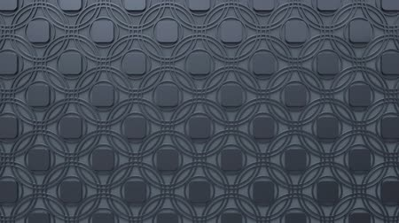 arabesk : Arabesque looping geometric pattern. Gray and metal islamic 3d motif. Arabic oriental animated background. Muslim moving wallpaper. Asian ornament with circles. Ethnic design element decoration.
