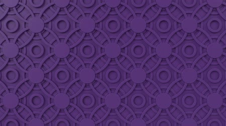 arabesk : Arabesque looping geometric pattern. Purple islamic 3d motif. Arabic oriental animated background. Muslim moving wallpaper. Asian ornament with circles. Ethnic design element decoration.