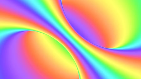 concêntrico : Spectrum psychedelic optical illusion. Abstract rainbow hypnotic animated background. Bright looping colorful wallpaper. Surreal multicolor dynamic backdrop. 3D seamless full HD animation Vídeos