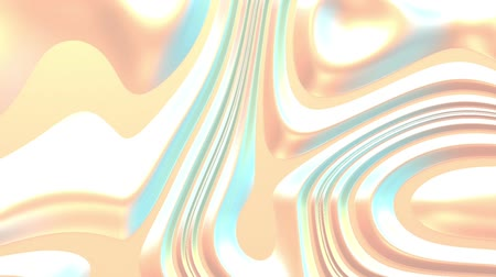 Holographic pearlescent light liquid background. Iridescent psychedelic silky fluid paint. 3d render looping animation. Pastel gradient wavy foil. Loopable motion graphic, flowing dynamic wallpaper Wideo