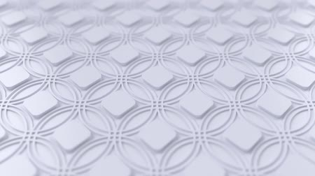 motívum : Arabesque looping geometric pattern. White islamic 3d motif. Arabic oriental animated background. Muslim moving wallpaper. Asian ornament with circles. Ethnic design element decoration. Stock mozgókép
