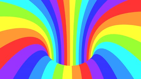 gerçeküstü : Spectrum psychedelic optical illusion. Abstract rainbow hypnotic animated background. Bright looping colorful wallpaper. Surreal multicolor dynamic backdrop. 3D seamless full HD animation Stok Video