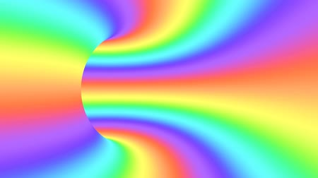 оптический : Spectrum psychedelic optical illusion. Abstract rainbow hypnotic animated background. Bright looping colorful wallpaper. Surreal multicolor dynamic backdrop. 3D seamless full HD animation Стоковые видеозаписи