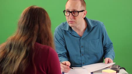Job interview Stock Footage