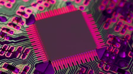 componente : Overheated computer chip. Stock Footage