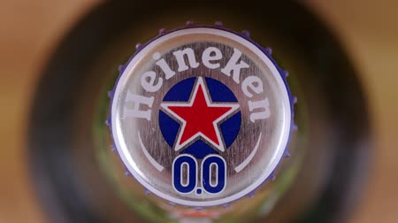 logo : SARANSK, RUSSIA - JUNE 07, 2017: Non-alcoholic version of Heineken 0.0 beer.