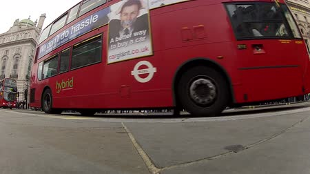london england : London bus Stock Footage