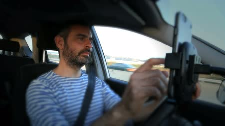 on the phone : Driver use phone while driving
