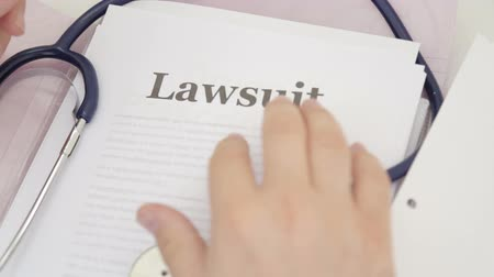 ustawa : Shot of Medical legal papers with lawsuit title