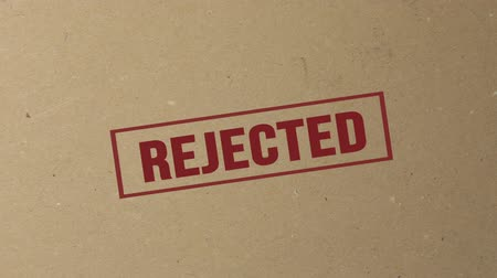 cancellation : Shot of Rejected signed with red ink stamp