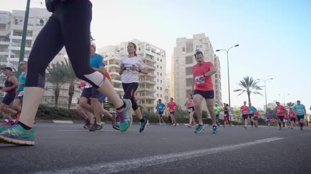kilometer : Shot of Marathon runners from low angle view