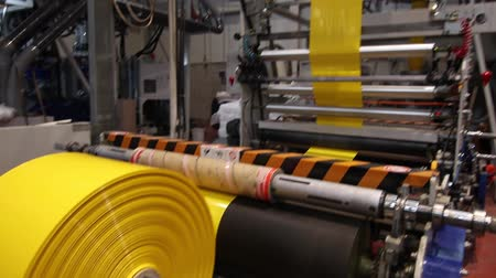 polyvinyl : Factory Plastic line machinery Stock Footage