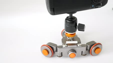 gimmick : Flexible Motorized Electric dolly Stock Footage