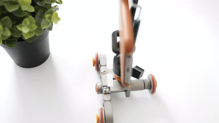 gimmick : Top view of smartphone on dolly