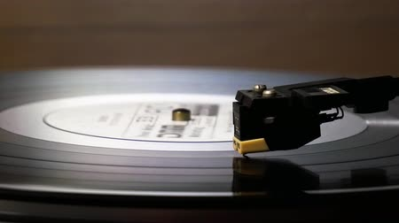 Vinyl Record Rotation. Grooves, harmony. Stock Footage