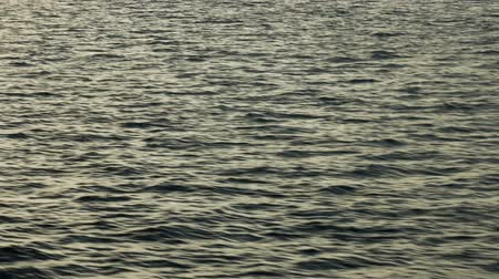 vibration : Sea ripples on the water before dawn Stock Footage