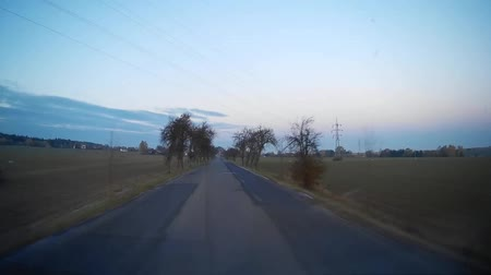 previously : Point of view clip shooted on dashcam During in car driving on rural road.