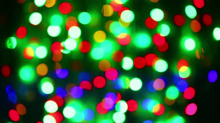yuvarlak : Illumination garland decoration blinking circle bokeh background