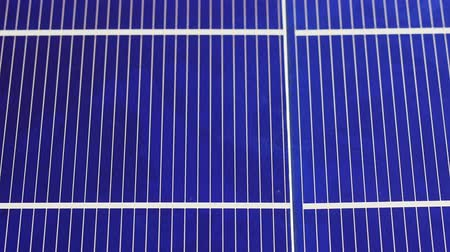silisyum : Solar panel cell elements components, detail view background, sliding video