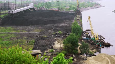 depositary : Coal tankage near Trypillian power plant, Ukraine