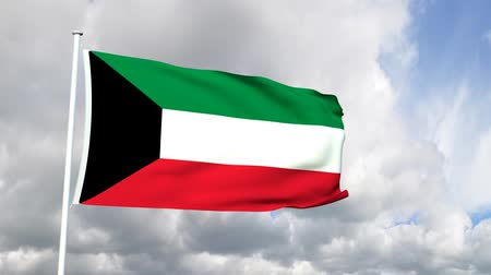 оказывать : Flag from the State of Kuwait
